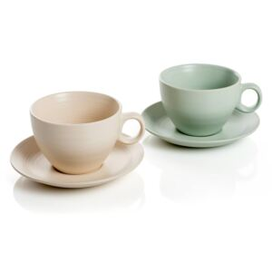 MARRAKECH šálka Green - Cream SET 2ks 450 ml
