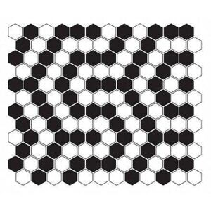 Dunin - MINI HEXAGON B&W Coral(26 x 30cm/1ks)