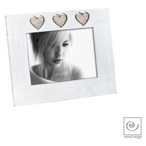 A945 FRAME 13X18 WHITE / 3 hearts