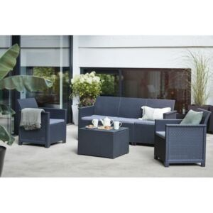 EMMA 3 seaters sofa set - grafit - InternetovaZahrada R246147