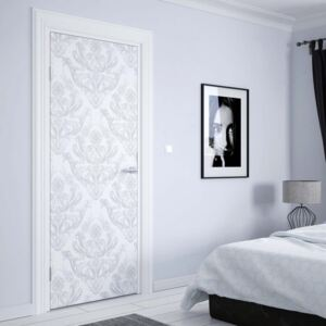 GLIX Fototapeta na dvere - Floral Pattern White And Grey