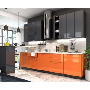 VerDesign, VALENCIA 240, orange/antracit lesk