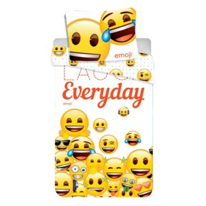 Jerry Fabrics Emoji 213 Laugh everyday,140x200/70x90 cm