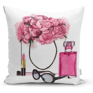 Obliečka na vankúš Minimalist Cushion Covers Pink Flowers and Perfume, 45 x 45 cm