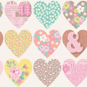 Arthouse Tapeta na stenu - Patchwork Heart Patchwork Heart Pastel