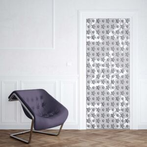 GLIX Fototapeta na dvere - Stars Pattern Grey And White