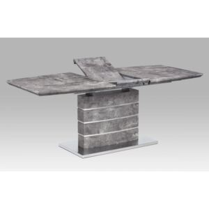 Dining table 160/200x90x76cm, MDF with stone paper 78054; base brushed stainless steel HT-302 BET Autronic