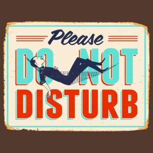 Retro tabula, rozmer 40 x 30 cm, Do Not Disturb, IMPOL TRADE PT001T2