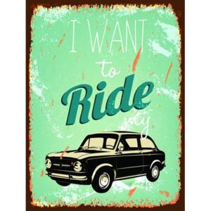 Retro tabula, rozmer 40 x 30 cm, Ride My Car, IMPOL TRADE PT020T2
