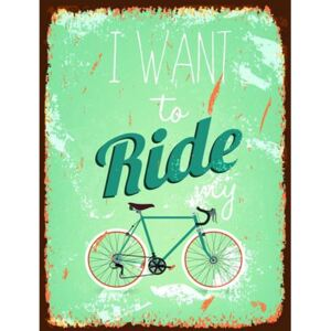 Retro tabula, rozmer 40 x 30 cm, Ride My Bicycle, IMPOL TRADE PT015T2