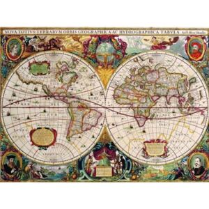 Retro tabula, rozmer 40 x 30 cm, World Map, IMPOL TRADE PT108T2