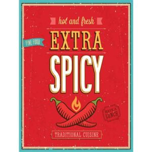 Retro tabula, rozmer 40 x 30 cm, Extra Spicy Hot and Fresh, IMPOL TRADE PT009T2