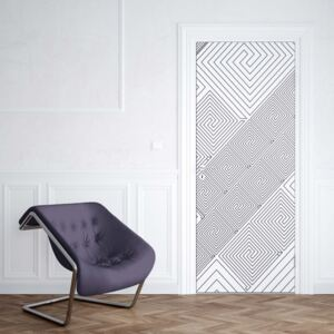 GLIX Fototapeta na dvere - Modern Geometric Pattern White And Grey