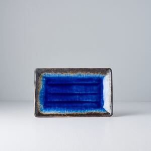 MADE IN JAPAN Sada 2 ks: Tanier na sushi Cobalt Blue 21 × 13 cm