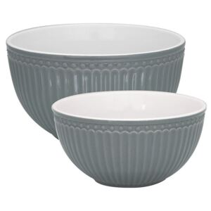 Porcelánová misa Alice Stone Grey - set 2 ks