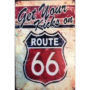 Ceduľa Route 66 - Get Your Kick on