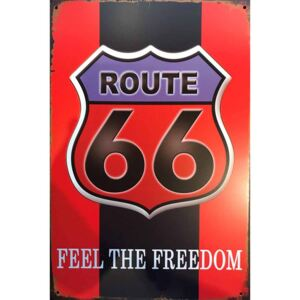 Ceduľa Route 66 Feel The Freedom