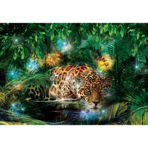 GLIX Fototapeta na dvere - Magical Jungle Jaguar