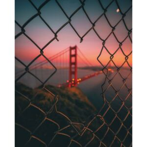 Umelecká fotografia Golden Gate Caged, David George