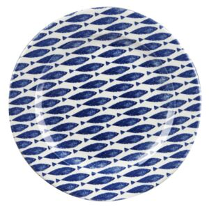Kameninový tanier Churchill China Couture Fishie Blue, ⌀ 30 cm