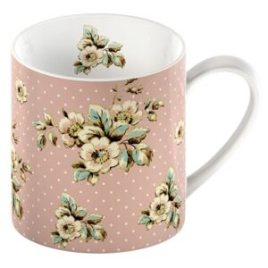 Ružový porcelánový hrnček Creative Tops Cottage Flower, 330 ml