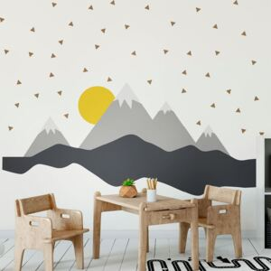 BonamiNástenná samolepka Ambiance Giant Kid Sticker Scandinavian Mountains Nordika