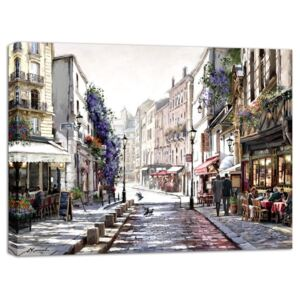Obraz Styler Canvas Watercolor Paris II, 75 × 100 cm