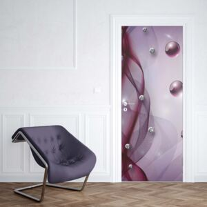 GLIX Fototapeta na dvere - 3D Modern Abstract Design Purple