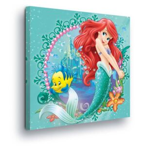 GLIX Obraz na plátne - Portrait of Disney Ariela Little Mermaid 40x40 cm