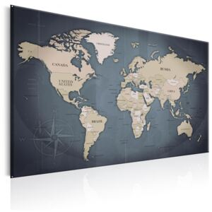 Obraz - World Map: Shades of Grey 60x40