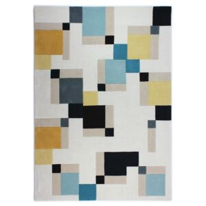 Modrý koberec Flair Rugs Illusion Abstract Blocks, 120 × 170 cm