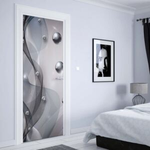 GLIX Fototapeta na dvere - 3D Modern Abstract Design Silver