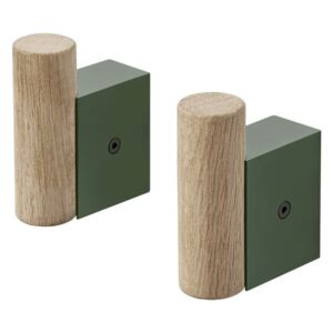 Muuto Vešiaky Attach, dark green/oak