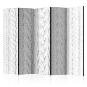 Paraván - White Knit II [Room Dividers] 225x172