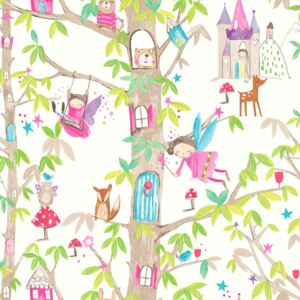 Arthouse Tapeta na stenu - Woodland Fairies Woodland Fairies White
