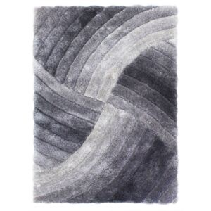 Sivý koberec Flair Rugs Furrow Grey, 80 × 150 cm