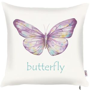 Obliečka na vankúš Mike & Co. NEW YORK Violet Butterfly, 43 × 43 cm
