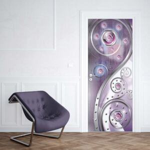 GLIX Fototapeta na dvere - 3D Ornamental Design Purple