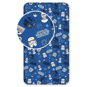 JERRY FABRICS Plachta Star Wars blue galaxy Bavlna 90/200, cm
