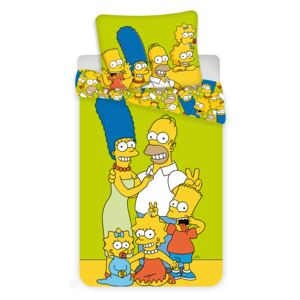 Jerry Fabrics Simpsons green yellow , 140x200/70x90 cm