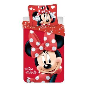 JERRY FABRICS Obliečky Minnie Big Red Polyester, 140/200, 70/90 cm
