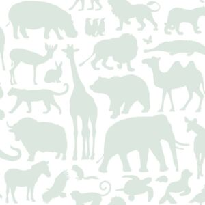 ESTAhome Tapeta Animals mint green