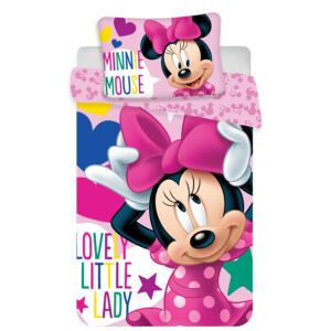 Jerry Fabrics Obliečka do postieľky Minnie baby 100x135 / 40x60 cm