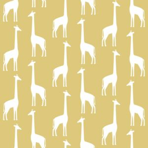 ESTAhome Tapeta Giraffes ochre yellow