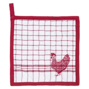 Chňapka - podložka Country Side Chicken red - 20 * 20 cm
