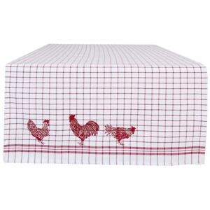 Behúň na stôl Country Side Chicken red - 50 * 140