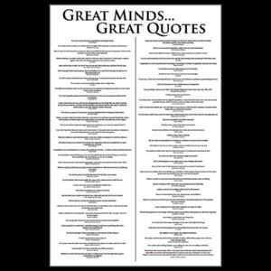 Plagát - Great Minds ... Great Quotes