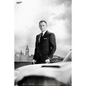 Plagát - James Bond & DB5 Skyfall