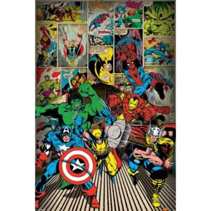 Plagát - Marvel Comics, Here Come The Heroes