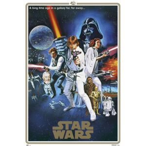 Plagát, Obraz - Star Wars - 40th Anniversary One Sheet, (61 x 91,5 cm)